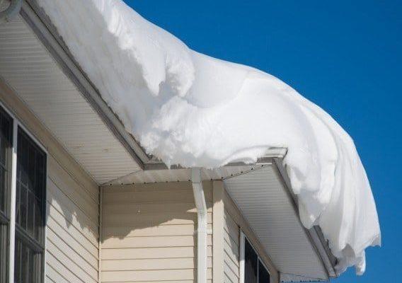Dense snow on Colorado roof.
