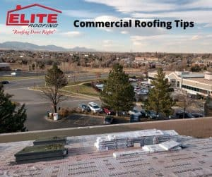 Commercial roofing job with shingles on top of Denver roof.