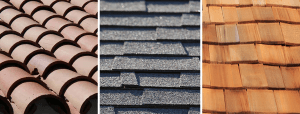 Types of roofing: Tile, asphalt and woodshake
