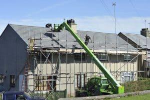 Roof repairs in progress